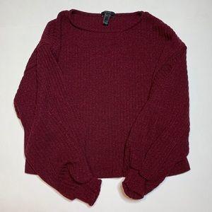Maroon cuffed sweater